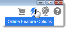 3.1 online feature options button