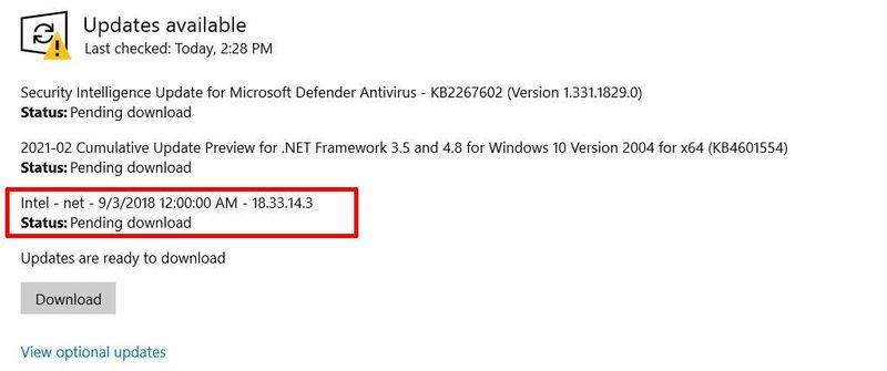 HP Zbook Windows update intel.jpg