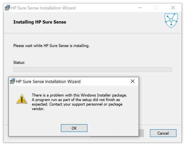 sure sense - error during re-installation.jpg