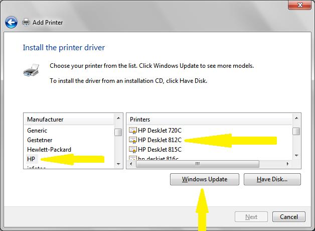 Hp deskjet 720c drivers for windows 7.