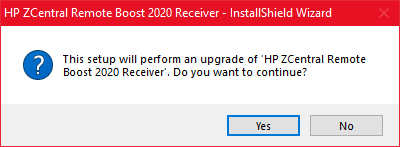 RGS Receiver upgrade from Command line broken by popup window