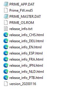 G1 ROM Directory listing