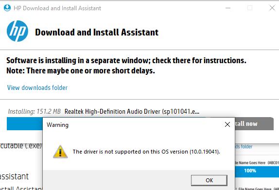 Driver Install fail