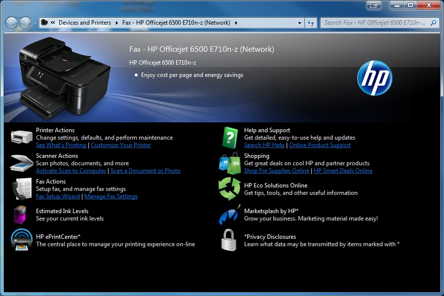 Hp officejet 6500 wireless printer driver for mac download.