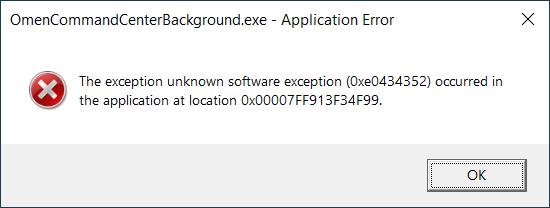 OmenCommandCenterBackground.exe Application Error (2021-09-28).png