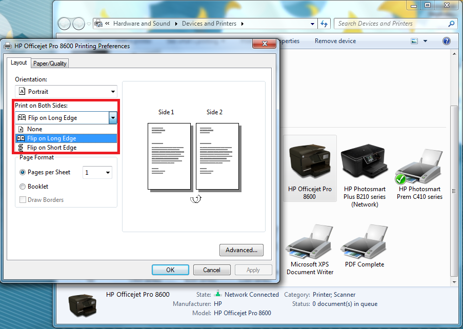 Solved Two Sided Copies Hp Officejet Pro 8600 N911a