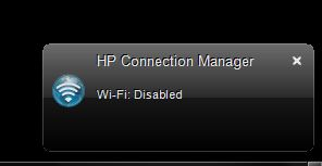how to turn on wireless capability for hp pavilion dv6- 1207