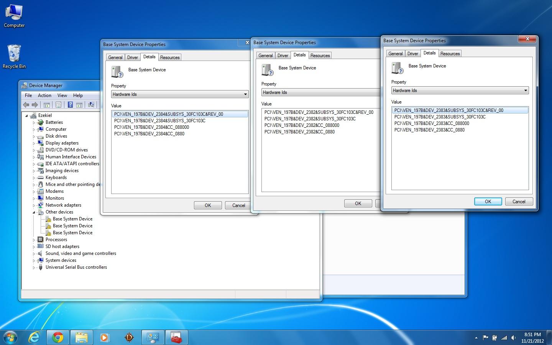 Base System Device Driver Windows 7 32 Bit Hp
