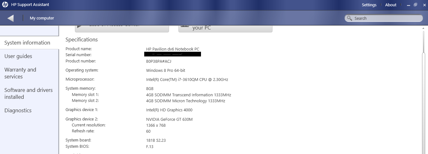 It is showing total available graphics as only 1664MB on Wi    - HP