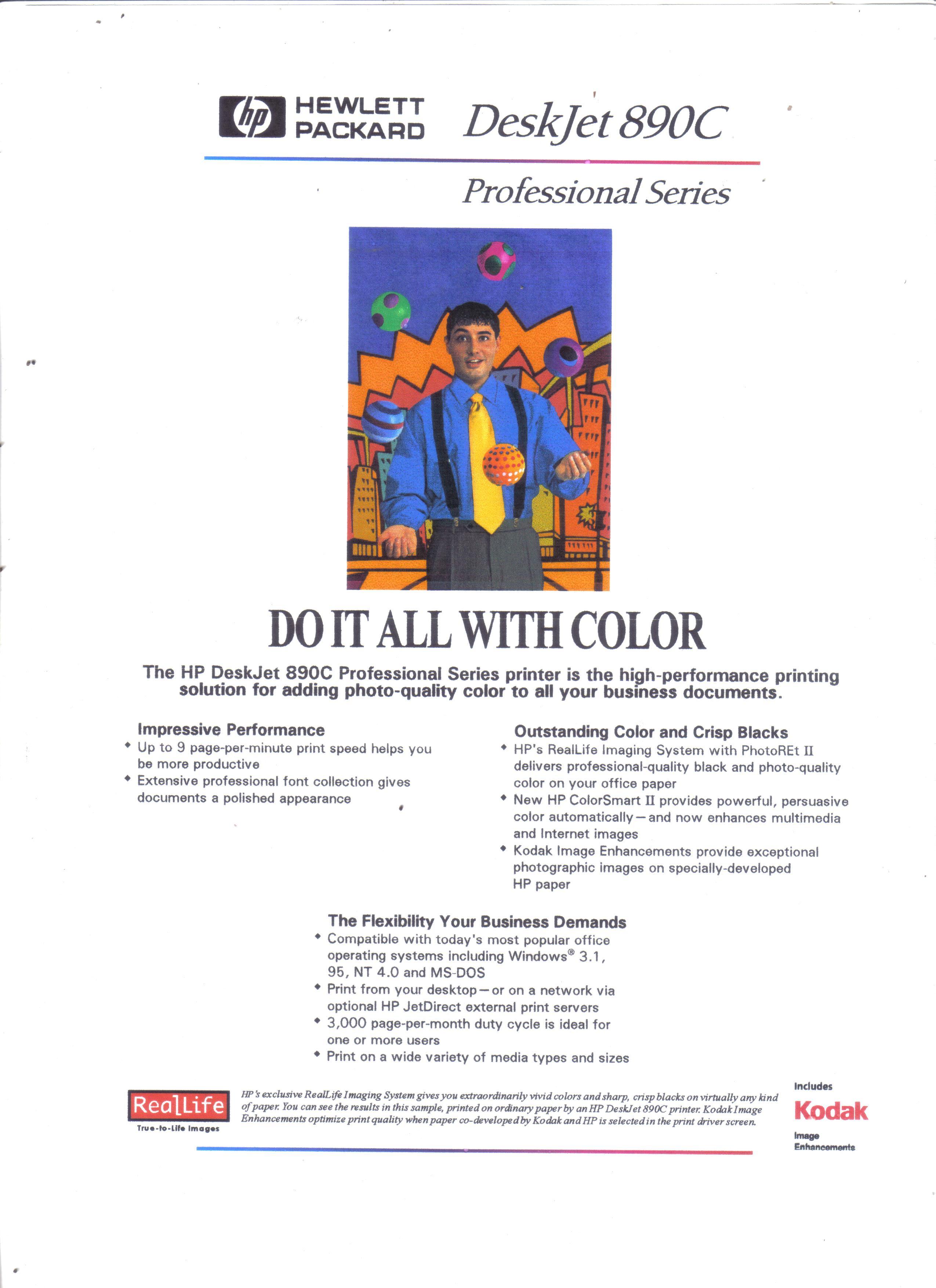 Hp deskjet 890c printer color ink-jet overview cnet.