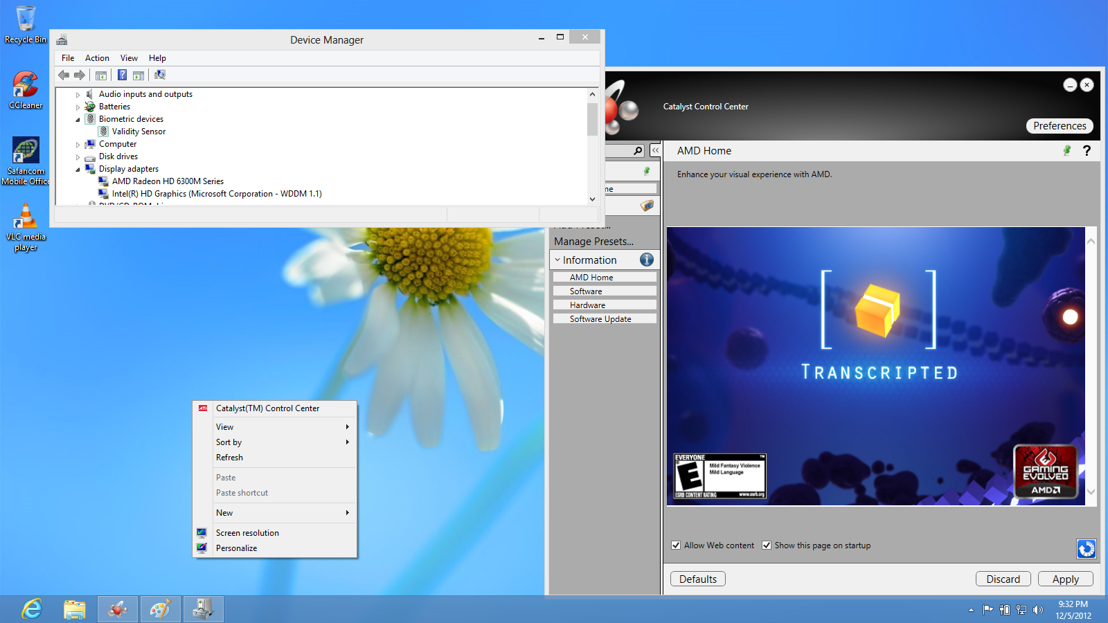 Solved: Windows 8 drivers for HP notebooks with switchable graphics
