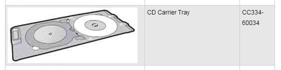 CD Carrier Tray