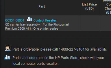 Hp Parts Store >> Can T Print Cd Dvds With Hp C309a Hp Support Community
