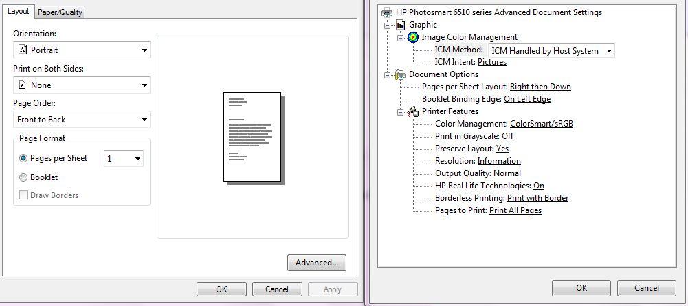borderless photo printing with the photosmart 6520 printer