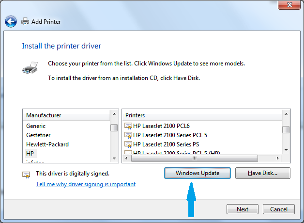 Solved Win 7 Drivers For Laserjet 2100 Hp Support Community