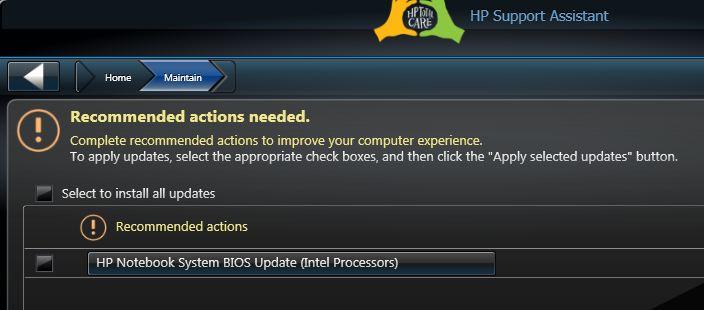 BIOS Update (Intel on AMD notebook?) - HP Support Community