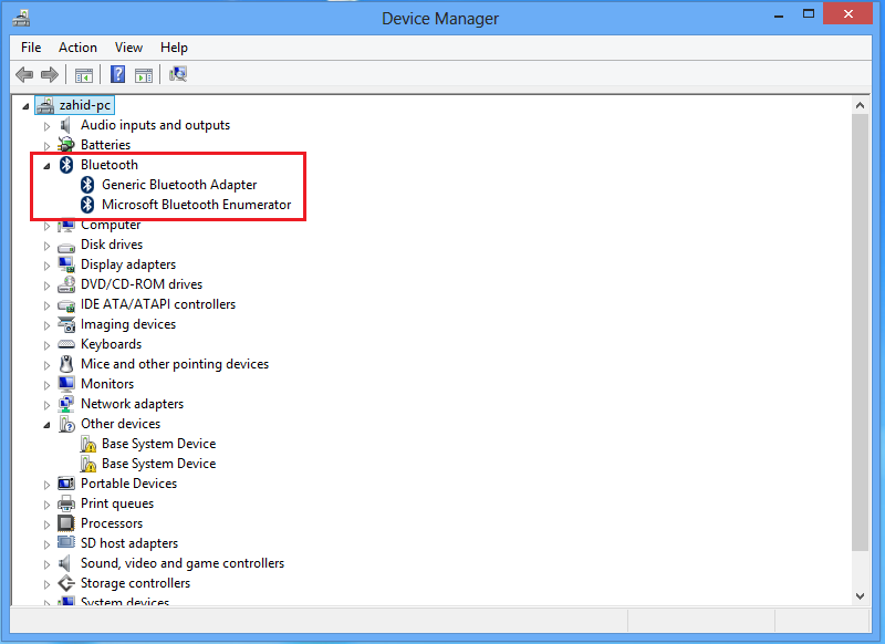 install bluetooth driver for windows 8.1 hp