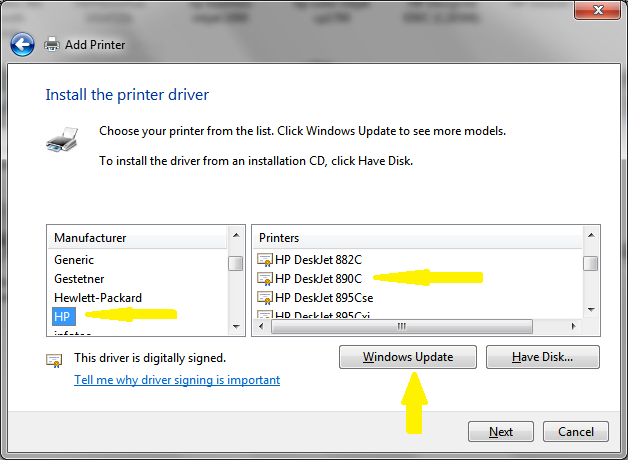 Hp 890c & windows 7 hp support community 272936.