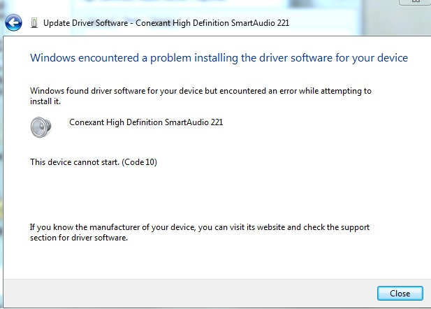 Conexant rd02-d450 audio drivers for windows 7.