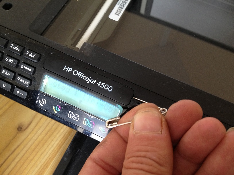 Solved: HP Officejet 4500 error message scanner failure  - HP