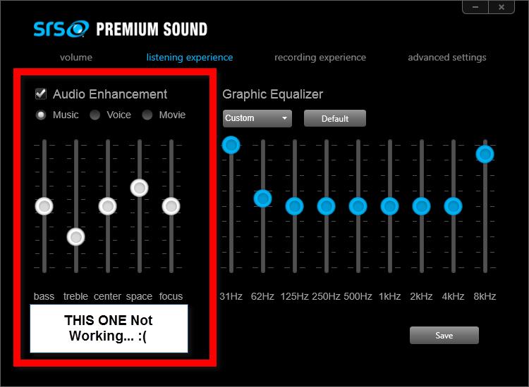 Скачать драйвер для srs premium sound