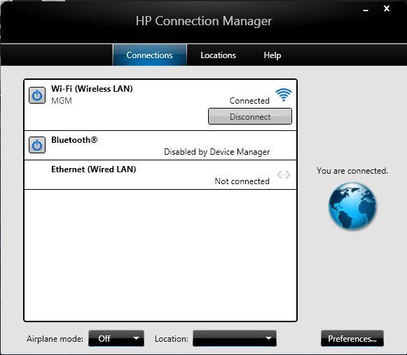 Скачать hp connection manager windows 7.