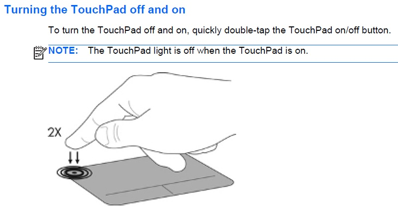 Solved: what is the orange light on my touchpad?? Pointer