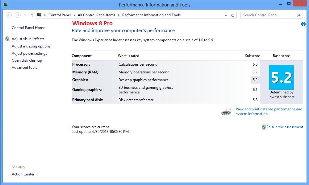AMD Radeon HD 8650G + 8750M Dual Graphics and lower WEI scor
