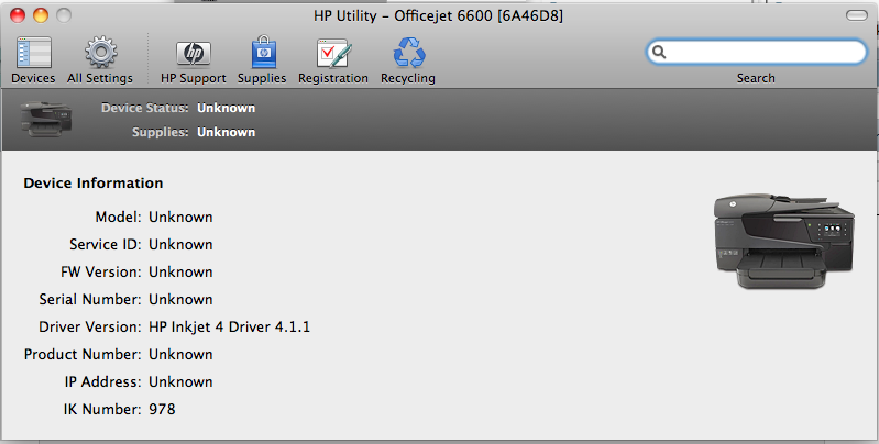 hp 6600 scan to mac