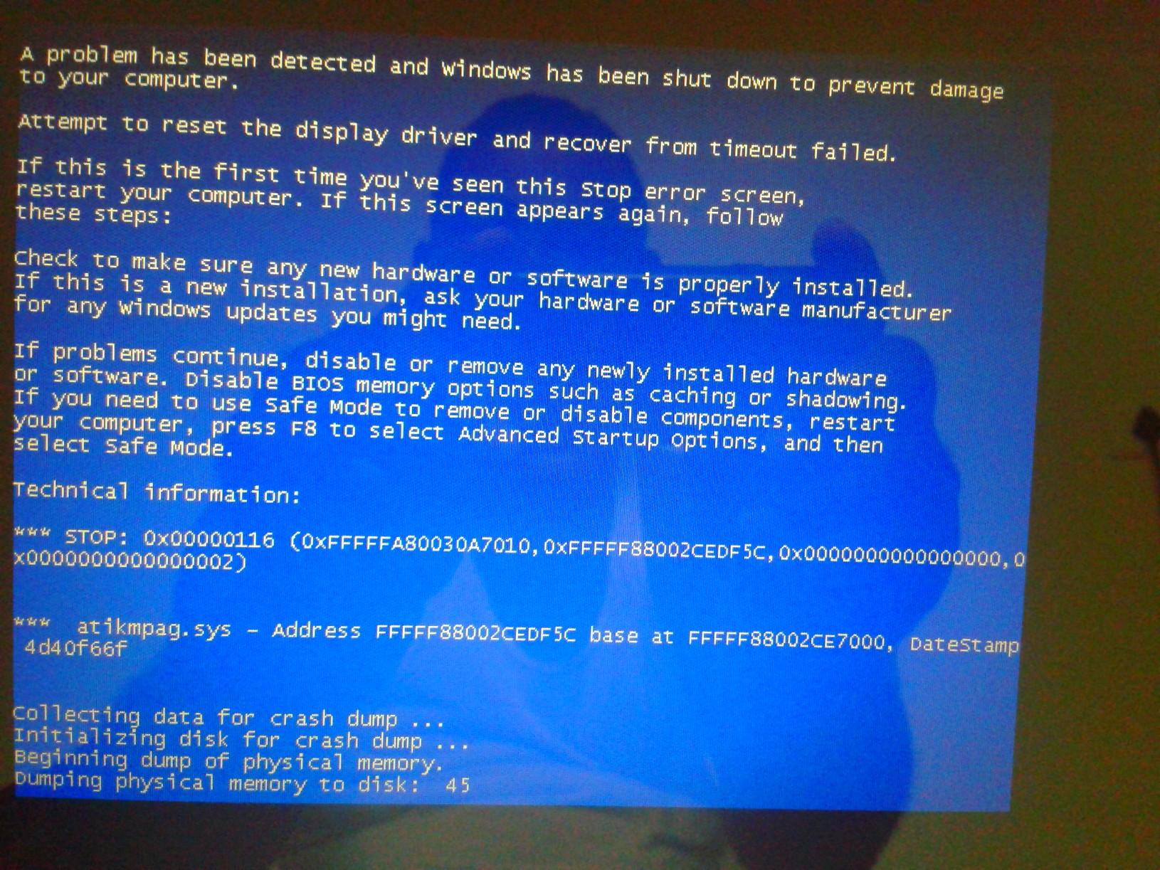 Amd Driver Crash Windows 7