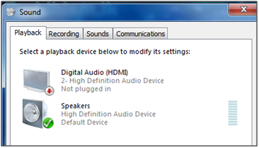 c667fe618ed This how playback setting appears even when I plug Headphones in to the  laptop. I can't see any option/setting for headphones.