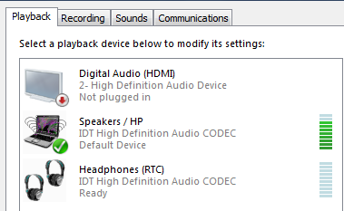 No Sound from my laptop speaker but Headphone works     - HP