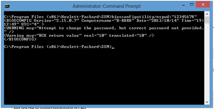 forgot bios password for HP 4540s probook - HP Support Community
