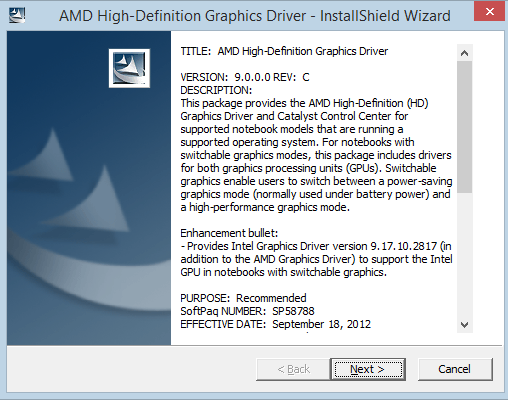 Switchable graphics cards on windows 10/8. 1/8 hp support.