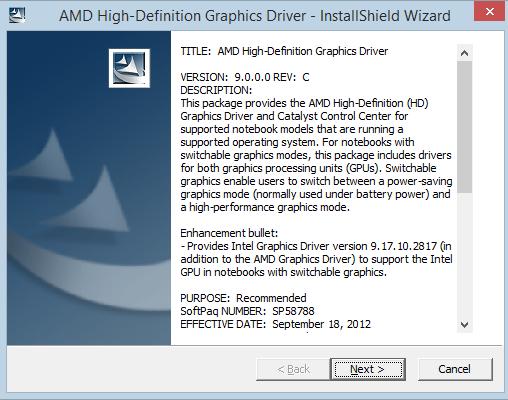 AMD Radeon HD 6470M Not working-on Windows 8 1 Enterprise 64