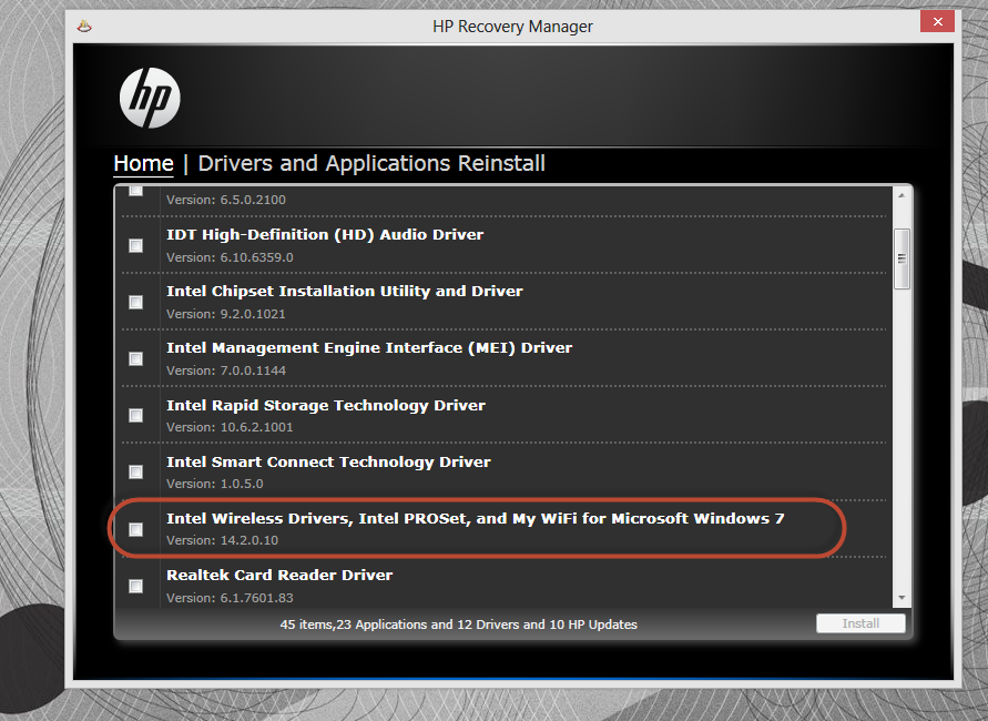 HP G62-147NR Notebook Realtek Card Reader 64 Bit