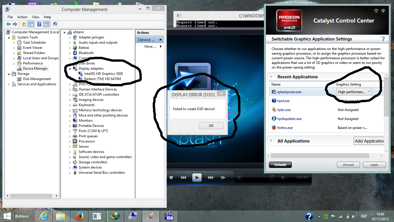 Solved: [incompatibility issue] intel hd graphics 4000 & amd.