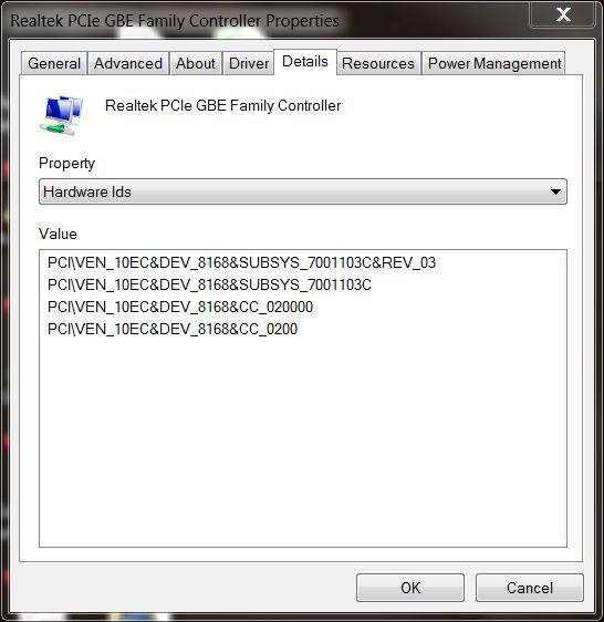 Where can I find a replacement Realtek PCIe GBE LAN card for