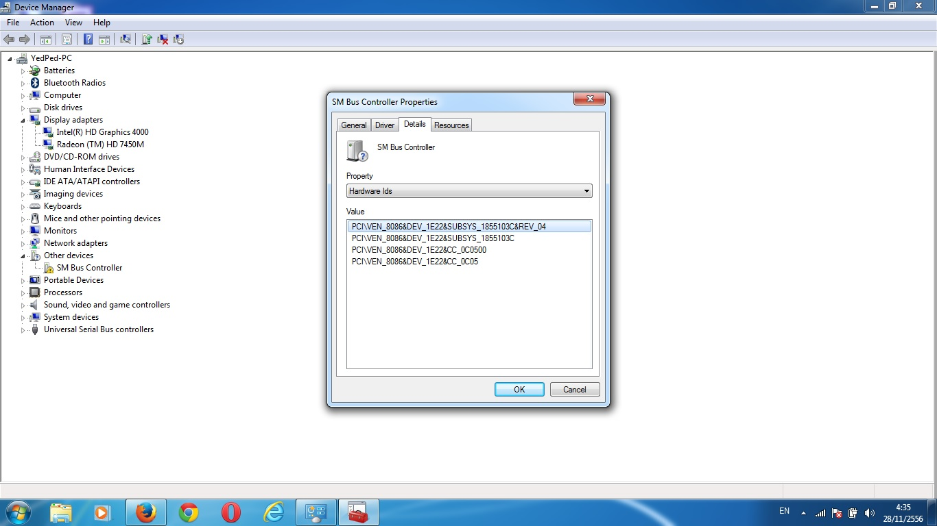 download sm bus controller driver windows 7 32 bit hp