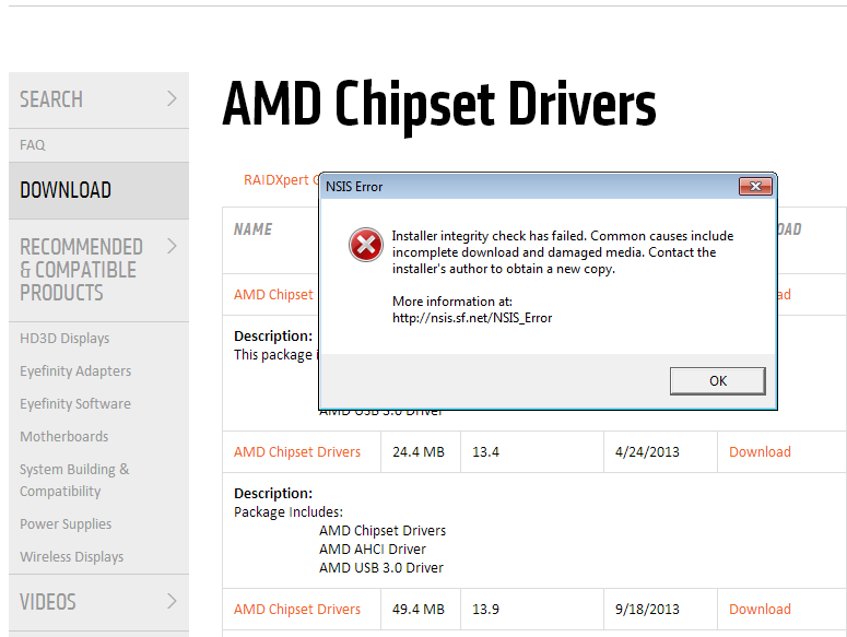 Ryzen owners, get your chipset drivers directly from AMD ...