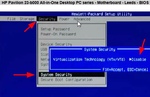 HP ENVY 23-d110fb TouchSmart Hardware Diagnostics UEFI 64 BIT
