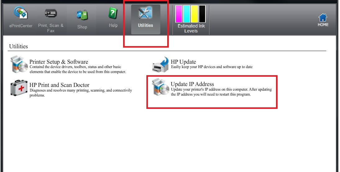 Solved: HP Scan & Capture software has a different IP address than t