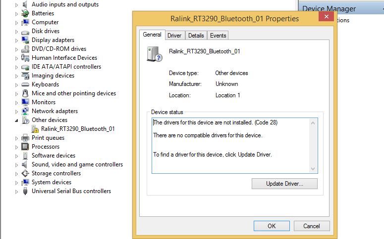 Скачать драйвер ralink rt3290 bluetooth 01 скачать драйвер для windows