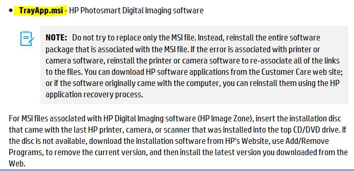 hp photosmart 5510 trayapp msi - HP Support Community - 3296645