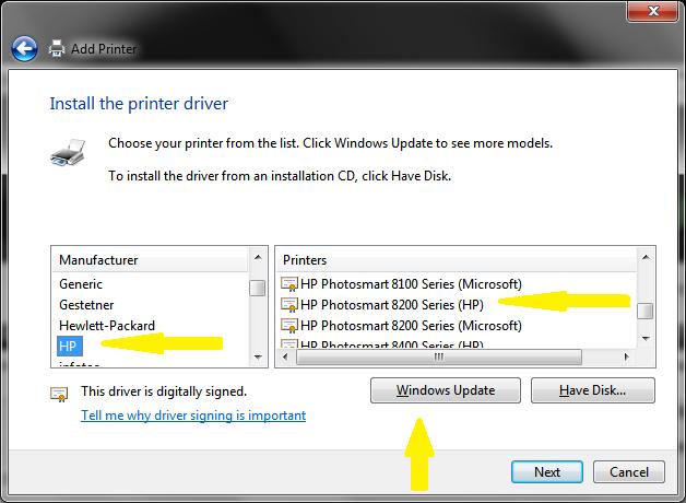 Hp printer 8250 driver.