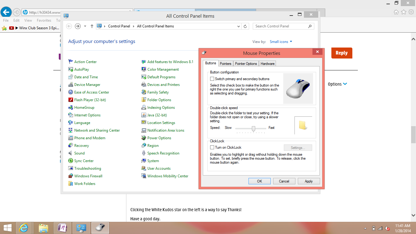 Solved: Touchpad Scroll not working - Windows 8 upgraded - HP