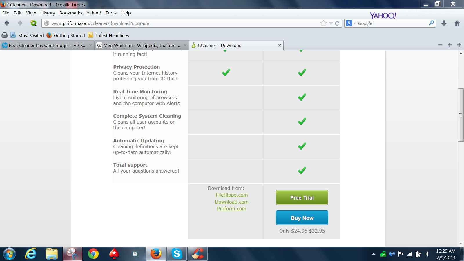 crap cleaner free download filehippo