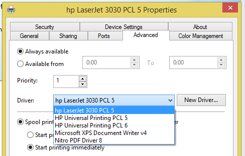Hp laserjet install the driver for an hp printer on a network in.