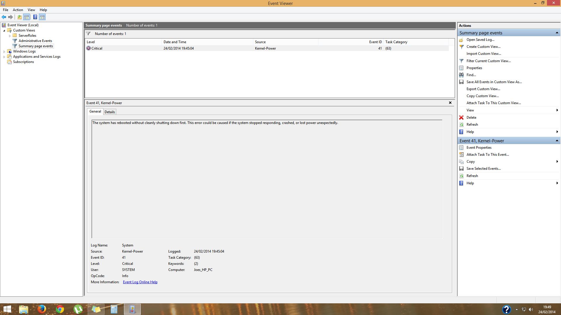HP Envy Phoenix h9-1330ea - Powerstate Failure BSOD - HP Support