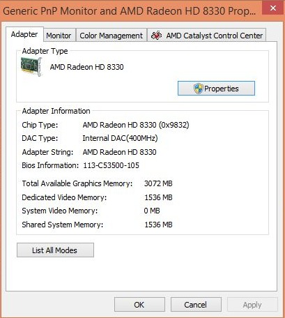 Solved: amd radeon hd 8670m (1 gb ddr3 dedicated) driver hp.